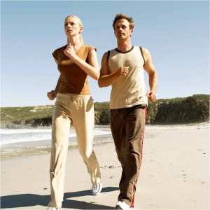 Increase fitness by jogging.